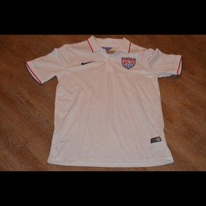 Nike 2014 USA Men's Soccer White Jersey Dri-Fit